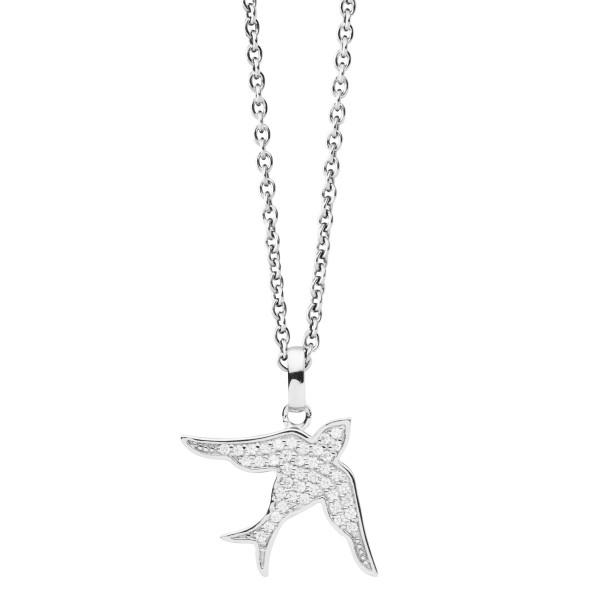Halskette mit Tauben Anhänger Zirkonia - Nana Kay