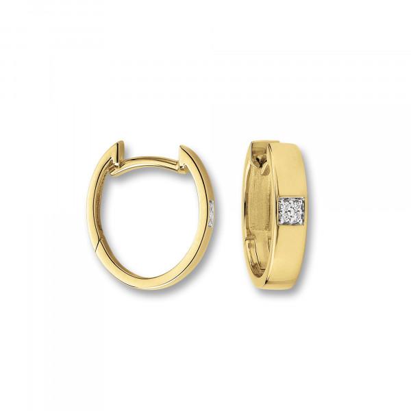Creolen mit Brillant ca. 14,5 mm 585 Gold