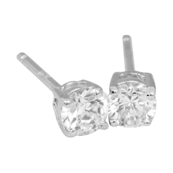 Ohrstecker 6 mm Classic Solitaire - Silver Trends