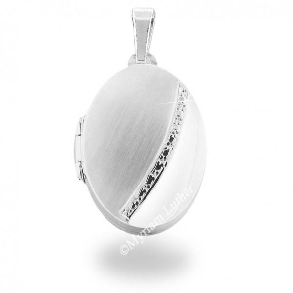 Medaillon mittel 925 Silber rhodiniert