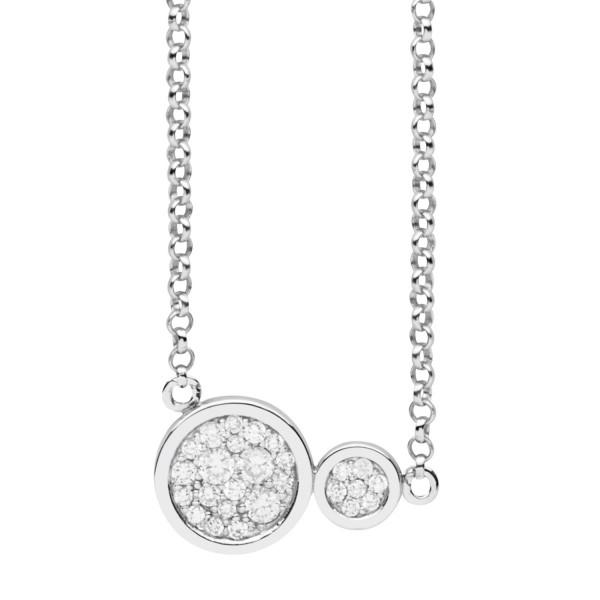 Silver Trends Anhaenger Button mit Halskette - ST1482