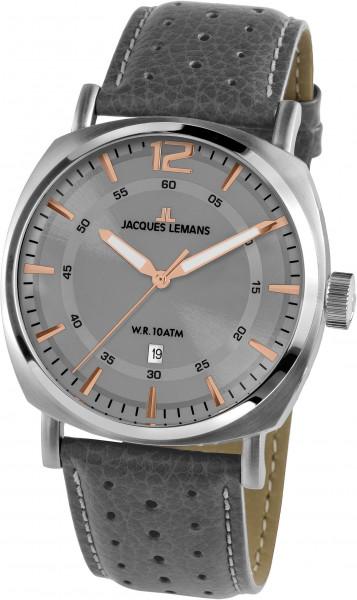 Jacques Lemans Uhr 1-1943E grau rosegold