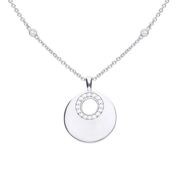 Halskette von Diamonfire Anhänger Kreis mit Zirkonia