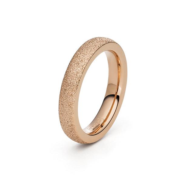 Ring Edelstahl Edelstahl rosegold farben diamantiert