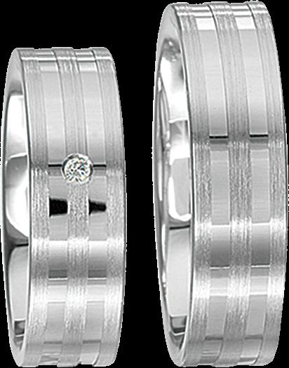 Freundschaftsringe 925 Silber mit echten Brillanten S45