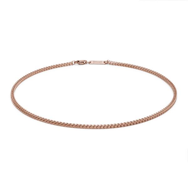 Halskette 2 mm Edelstahl rosegold farben von MONOMANIA