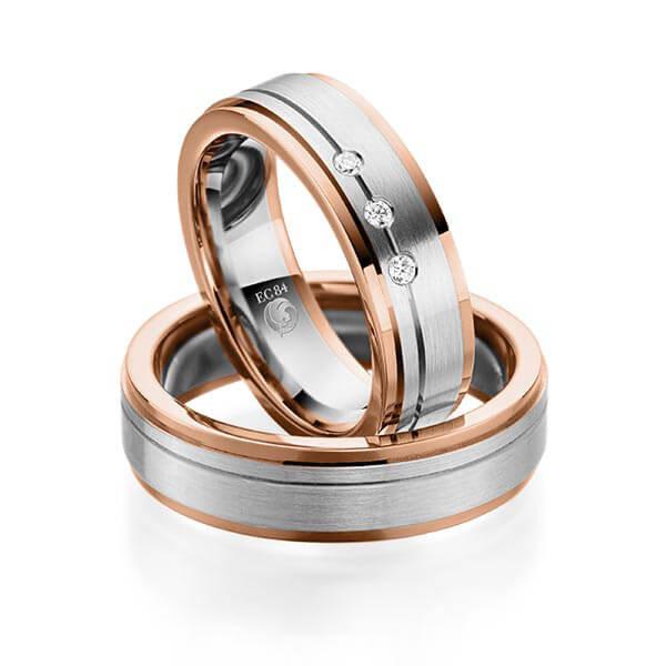 Trauringe 585 Rotgold 950 Palladium Eheringe Hochzeitsringe