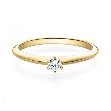 Verlobungsring Daphne 585 Gelbgold ges. 0,1 ct. Brillanten