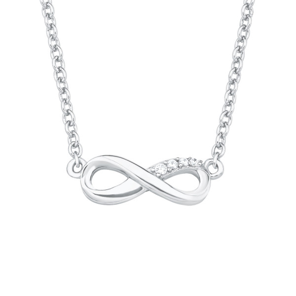Infinity Anhänger mit Halskette Damen silber Zirkonia s.Oliver