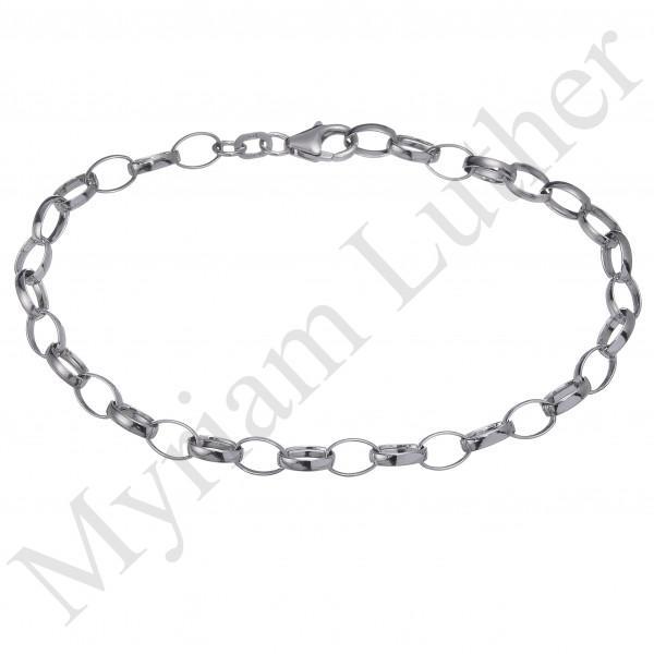 Herrenarmband 925 Silber feine Glieder