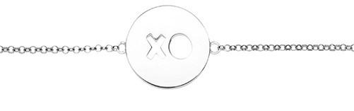 Armkette XO Hugs & Kisses für Mädels SIlber - ST1464 by Nana Kay