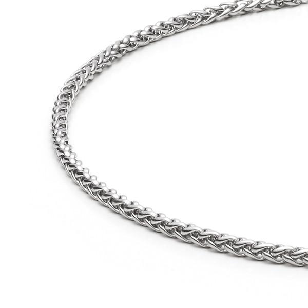 Halskette - Zopfmuster mit 3,0 mm Durchmesser in Edelstahl