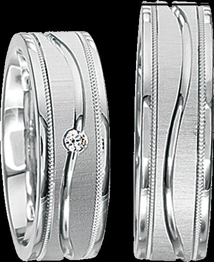 Freundschaftsringe 925 Silber mit echten Brillanten S37