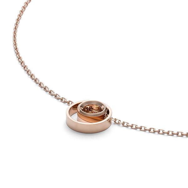 Halskette mit Kreise rosegold farben von MONOMANIA