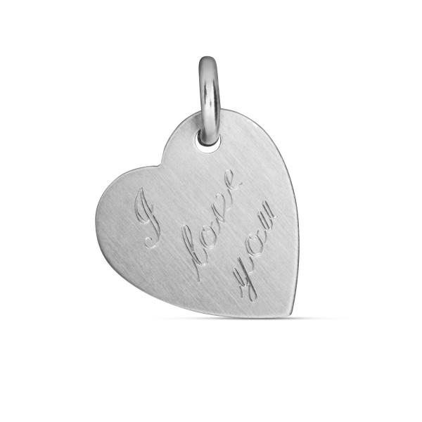 Anhänger 925 Silber Herz I LOVE YOU - 18 x 20 mm