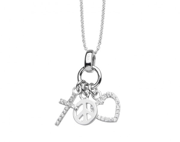 Silver Trends Friede Liebe Hoffnung mit Halskette SIlber - ST911