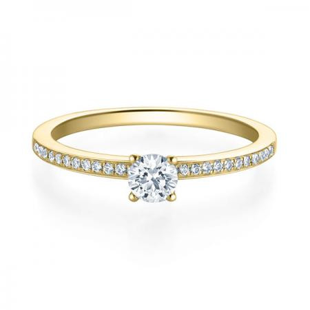 Verlobungsring Adele 750 Gelbgold ges. 0,329 ct. Brillanten