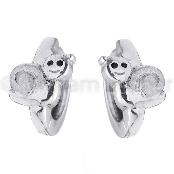 Kinder Ohrringe Schnecke 925 Silber rhodiniert