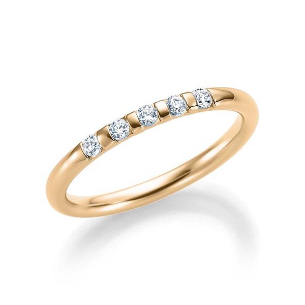 Verlobungsring Memoirring 585 Rosegold 0,15 Karat Brillant