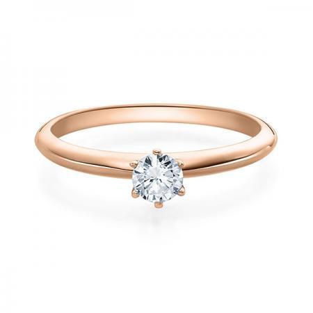 Verlobungsring 585 Rotgold 0,25 ct. Brillant