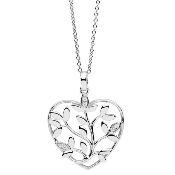 Halskette mit Anhänger Herz mit Zweigen - Nana Kay