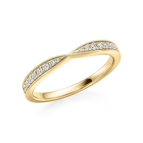 Verlobungsring 750 Gold - 0,14 Karat Brillanten