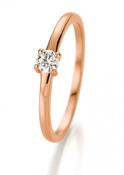 Verlobungsring 585 Rosegold 0,15 ct. Brillant