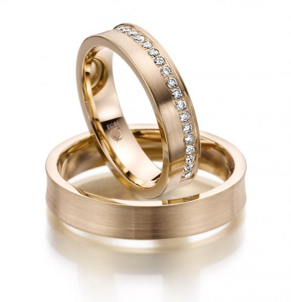 Trauringe 585 Rosegold Eheringe Hochzeitsringe