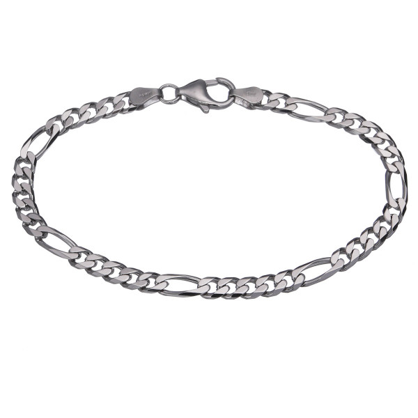 Silberarmband 925 Silber Figaropanzer