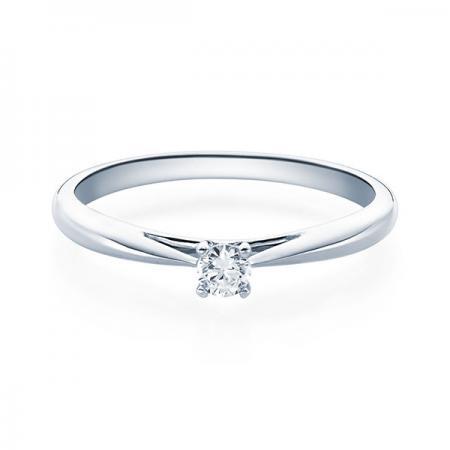 Verlobungsring Emilia 750 Weissgold ges. 0,1 ct. Brillanten