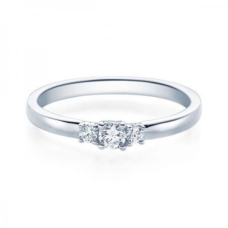 Verlobungsring Flora 585 Weissgold ges. 0,4 ct. Brillanten
