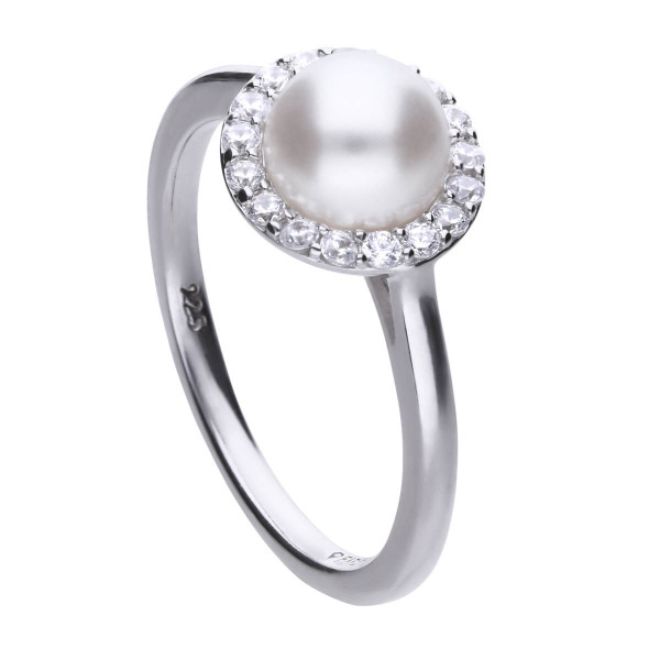 Ring mit Perle Silber Diamonfire PEARLS