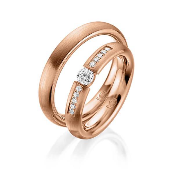 Trauringe 333 Rotgold Eheringe Hochzeitsringe Spannring RU-1047-3-333GG