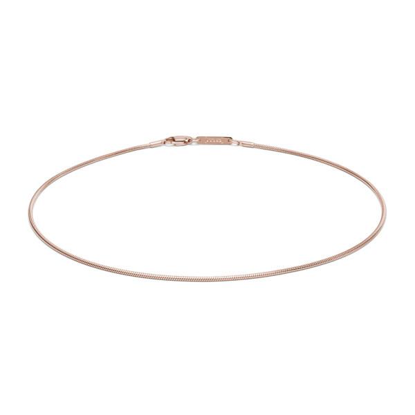 Halskette 1,6 mm stark Edelstahl rosefarben von MONOMANIA