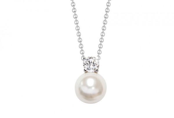 Halskette mit Fashion Perle und Zirkonia - Nana Kay