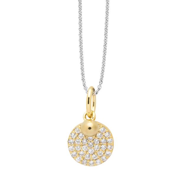 Halskette mit Scheiben Anhänger goldfarben beschichtet - Nana Kay