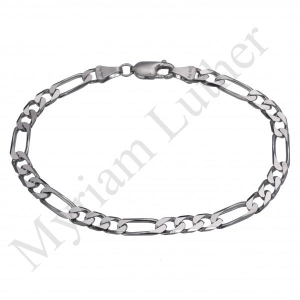 Silberarmband 925 Silber Figaropanzer Armband
