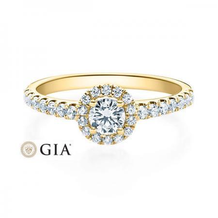 Verlobungsring Clea 585 Gelbgold ges. 0,66 ct. Brillanten