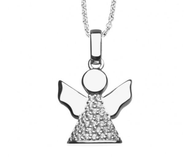 Halskette mit Engel Anhänger teils Zirkonia - Nana Kay