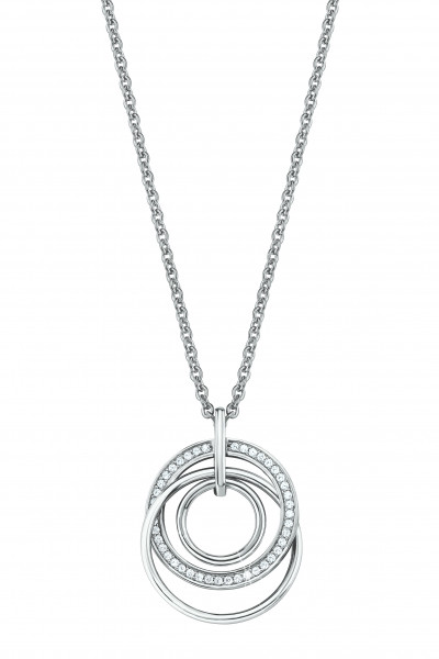Halskette Mehrfachkreise mit Zirkonia von s.Oliver
