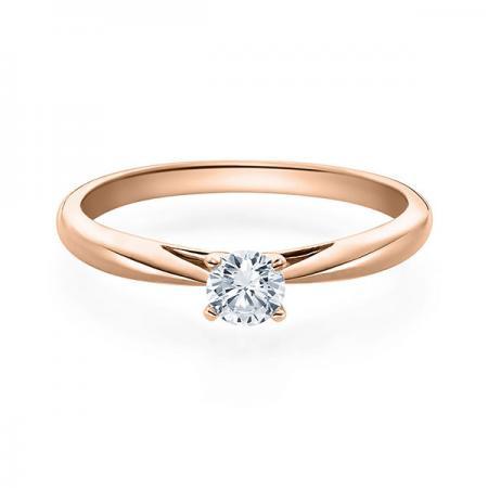 Verlobungsring Emilia 585 Rotgold ges. 0,25 ct. Brillanten