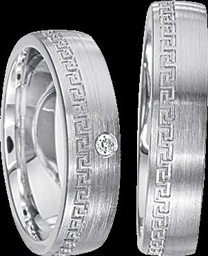 Freundschaftsringe 925 Silber mit echten Brillanten S39