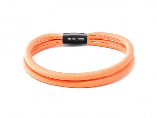Armschmuck doppeltes Seidenarmband orange - Monessa