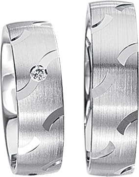 Freundschaftsringe 925 Silber mit echten Brillanten S58