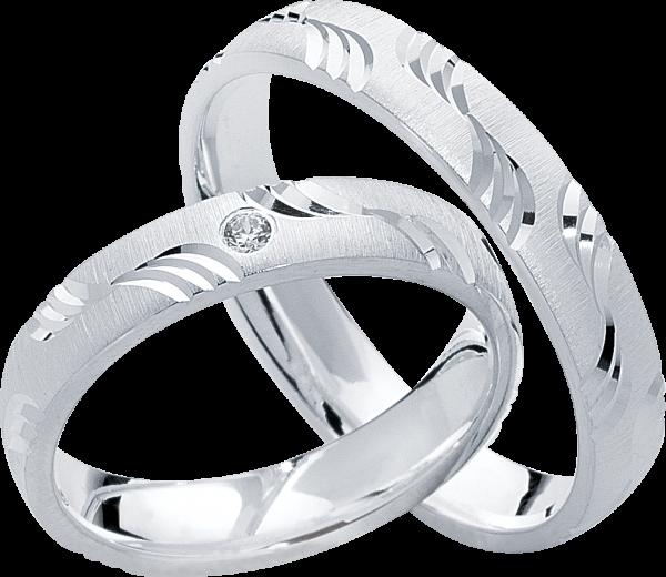 Freundschaftsringe 925 Silber mit Zirkonia S14