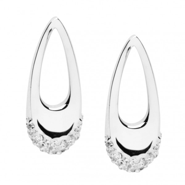 Ohrringe 925 Sterlingsilber mit Zirkoniarand - Silver Trends