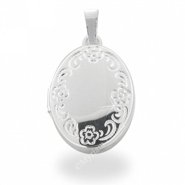 Medaillon klein 925 Silber rhodiniert