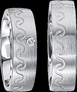 Freundschaftsringe 925 Silber mit echten Brillanten S51