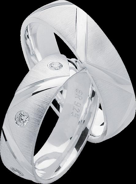 Freundschaftsringe 925 Silber mit Zirkonia S20