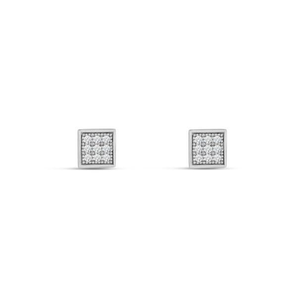 Ohrstecker 925 Silber quadratförmig mit Zirkonia